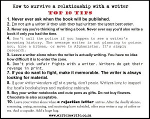 tips on how to date a writer